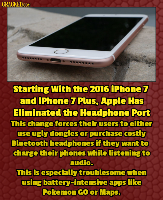 CRACKEDCOR COM Starting With the 2016 iphone7 and iphone 7 Plus, Apple Has Eliminated the Headphone Port This change forces their users to either use