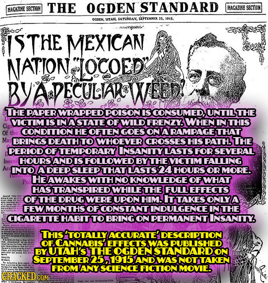 THE OGDEN STANDARD MACLZINE SECTION MAGAZINE SECTION OCDEN. UTAIL SATURDAY, STEMAXR 25. 1915. ISTHE MEXICAN NATION LOCOED ADECULAOWEED! THE PAPER WRA