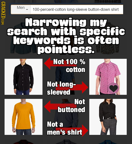 NDOT Men 100-percent-cotton long-sleeve button-down shirt Narrowing my search with Specific keywords is OFten pointless. Not 100 % cotton Not long- sl