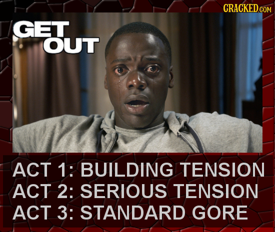 CRACKED.GOM GET OUT ACT 1: BUILDING TENSION ACT 2: SERIOUS TENSION ACT 3: STANDARD GORE