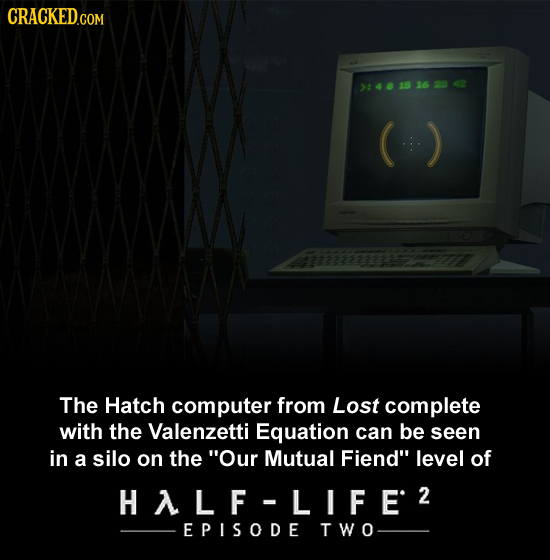 CRACKEDcO COM 2:4681516 2842 The Hatch computer from Lost complete with the Valenzetti Equation can be seen in a silo on the Our Mutual Fiend level