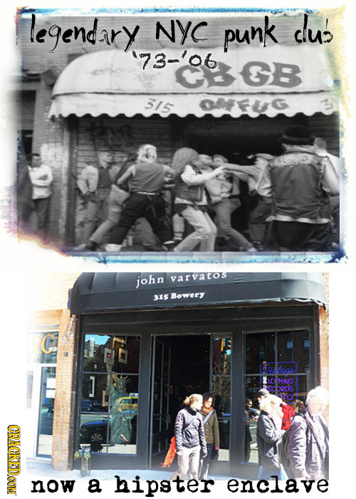 legendary NYC punk CU'! 73-'06 GB 315 john varvatos 35 Bowery J HING bed's CRACKEDOON a hipster enclave M