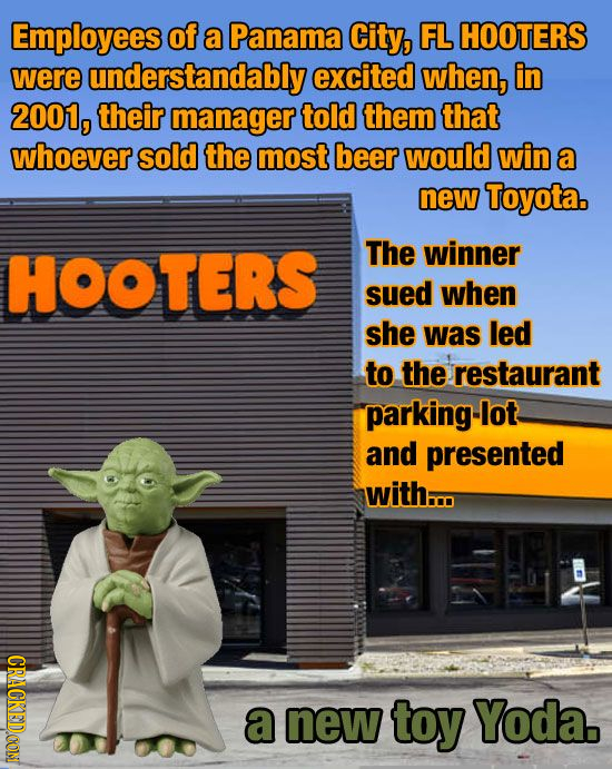 Employees of a Panama City, FL HOOTERS were understandably excited when, in 2001, their manager told them that whoever sold the most beer would win a