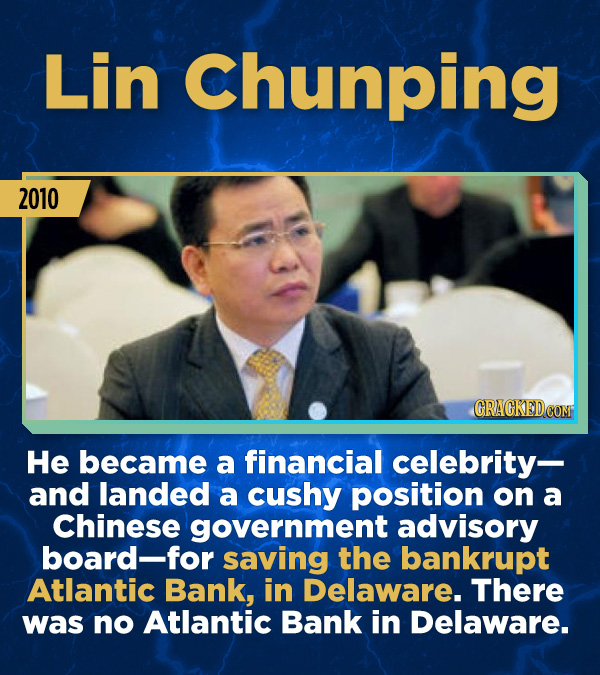 15 Stunning Frauds That Somehow Took People In - He became a financial celebrity— and landed a cushy position on a Chinese government advisory board—