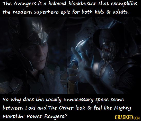 The Avengers is a beloved blockbuster that exemplifies the modern superhero epic for both kids & adults. So why does the totally unnecessary space sce