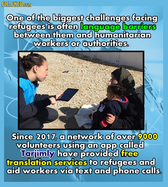 CRACKEDCON One of the biggest challenges facing refugees is often language barriers between them and humanitarian workers or authorities. Since 2017,
