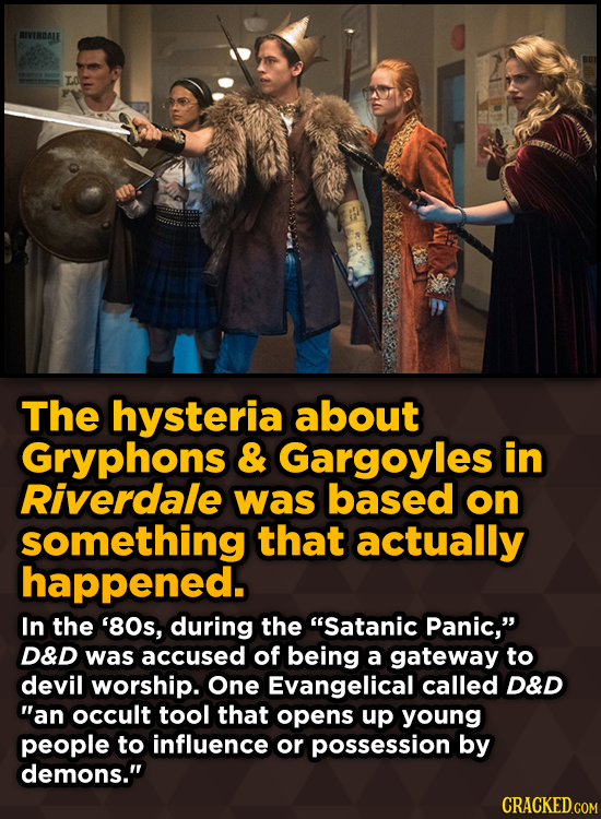 BIVERDALE The hysteria about Gryphons & Gargoyles in Riverdale was based on something