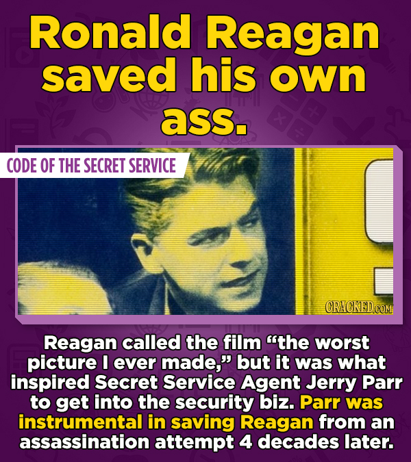 Ronald Reagan saved his own ass. CODE OF THE SECRET SERVICE CRACKED.COM Reagan called the film the worst picture I ever made, but it was what inspir