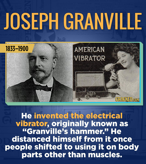 "18 Amazing People Too Many Of Us Haven't Heard Of - He invented the electrical vibrator, originally known as ""Granville's hammer."" He distanced himsel"