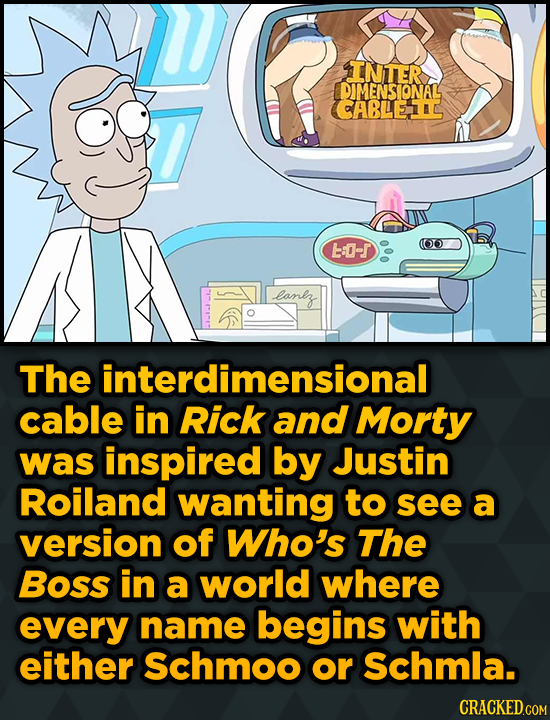 INTER DIMENSIONAL ABLEAD t-r lanlz The interdimensional cable in Rick and Morty was