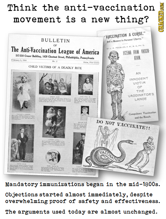 Think the anti-vaccination movement is a new thing? A CURSE, GRAI VACCINATION BULLETIN Liberty. Aed fe Permsal e OF The Anti-Vaccination League of A
