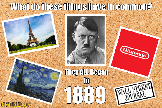 What do these things have in common? Nintendo They ALL Began In 1889 STREET WALL JOURNAL CRAGKED