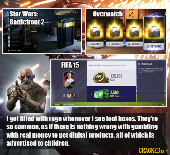 Star Wars: Overwatch Battlefront2 54007 ATES oat BTES 24100T B0KES 50 100T BOES FIFA 15 ULTIMATE PACK yoy urchase this FUT 125,000 Coins FIFR 2.500 FI