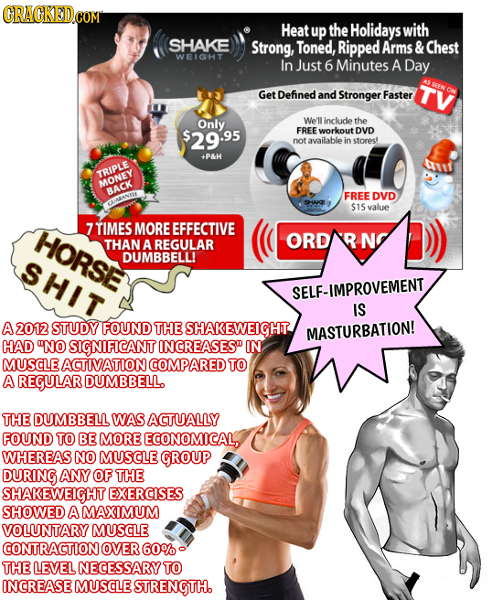 Heat up the Holidays with SHAKE Strong, Toned, Ripped Arms & Chest WEIGHT In Just 6 Minutes A Day Get Defined and Stronger Faster Only We'll include t