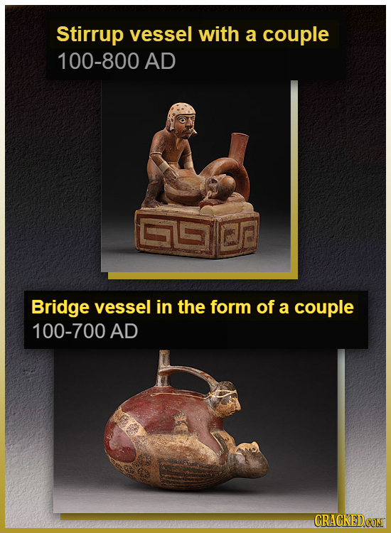 Stirrup vessel with a couple 100-800 AD Bridge vessel in the form of a couple 100-700 AD