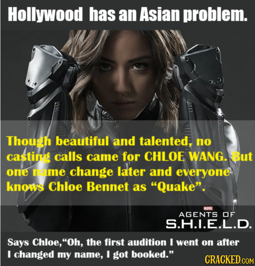 Hollywood has an Asian problem. Though beautiful and talented, no casting calls came for CHLOE WANG. But one name change later and everyone knows Chlo