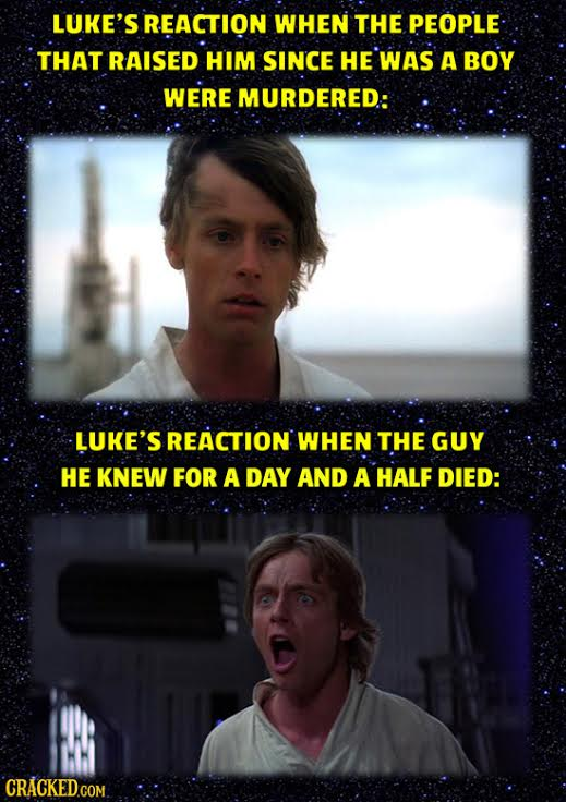 LUKE'S REACTION WHEN THE PEOPLE THAT RAISED HIM SINCE HE WAS A BOY WERE MURDERED: LUKE'S REACTION WHEN THE GUY HE KNEW FOR A DAY AND A HALF DIED: CRAC