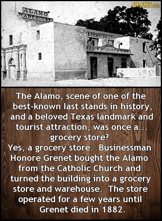 GRAGKED aTAmo SATREWOUSE BCOMM1SS03 ESTATTOS The Alamo, scene of one of the best-known last stands in history, and a beloved Texas landmark and touris