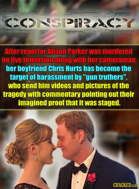 5 After reporter Alison Parker was murdered on live television along with her cameraman, her boyfriend Chris Hurts has become the target of harassment