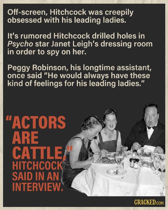 Alfred Hitchcock's Horrifying Misogyny
