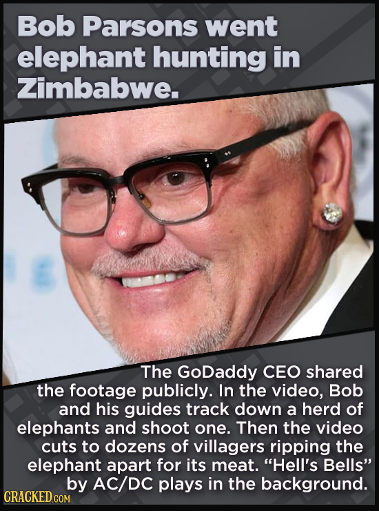 21 Beloved Celebrities Who Melted Down In Spectacular Ways - The GoDaddy CEO shared  the footage publicly. In the video, Bob and his guides track down