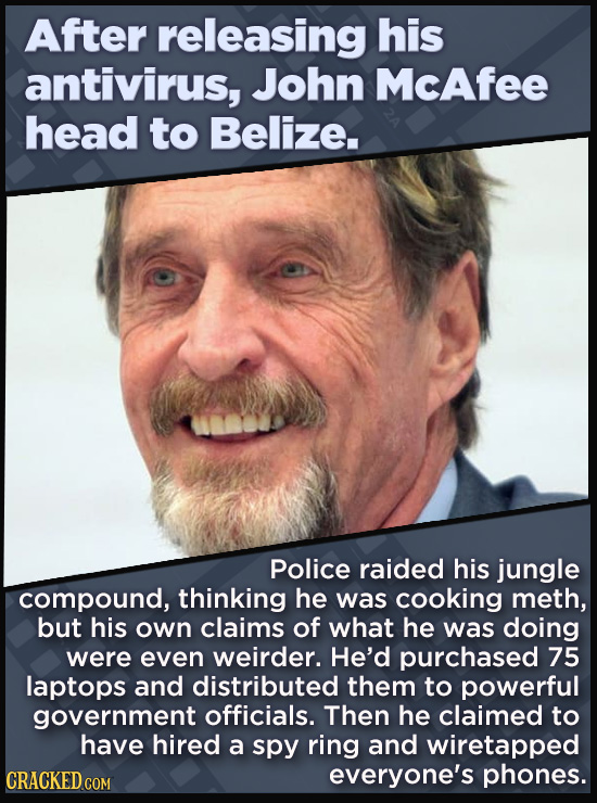21 Beloved Celebrities Who Melted Down In Spectacular Ways - Police raided his jungle  compound, thinking he was cooking meth, but his own claims of w