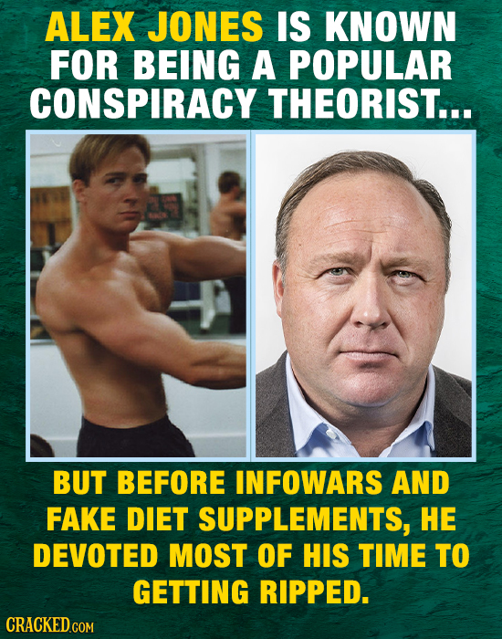 ALEX JONES IS KNOWN FOR BEING A POPULAR CONSPIRACY THEORIST... BUT BEFORE INFOWARS AND FAKE DIET SUPPLEMENTS, HE DEVOTED MOST OF HIS TIME TO GETTING R