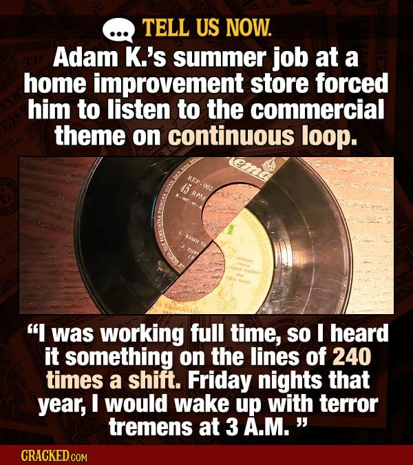 Tell Us Now: Horrifying Summer Job Stories