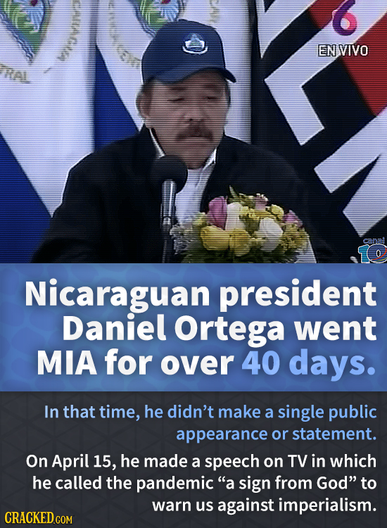 EN VIVO Ral 0 Nicaraguan president Daniel Ortega went MIA for over 40 days. In that time, he didn't make a single public appearance or statement. On A
