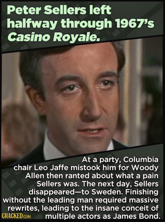 21 Beloved Celebrities Who Melted Down In Spectacular Ways - At a party, Columbia  chair Leo Jaffe mistook him for Woody Allen then ranted about what
