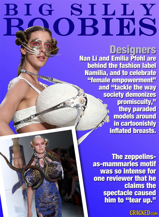 Absurdly Stupid Fashions That Designers Actually Rolled Out