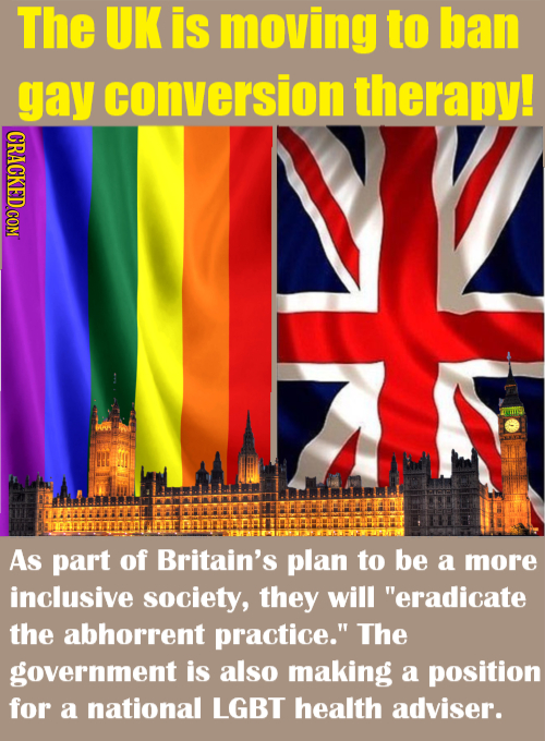 The UK is moving to ban gay conversion therapy! UIIS As part of Britain's plan to be a more inclusive society, they will eradicate the abhorrent prac