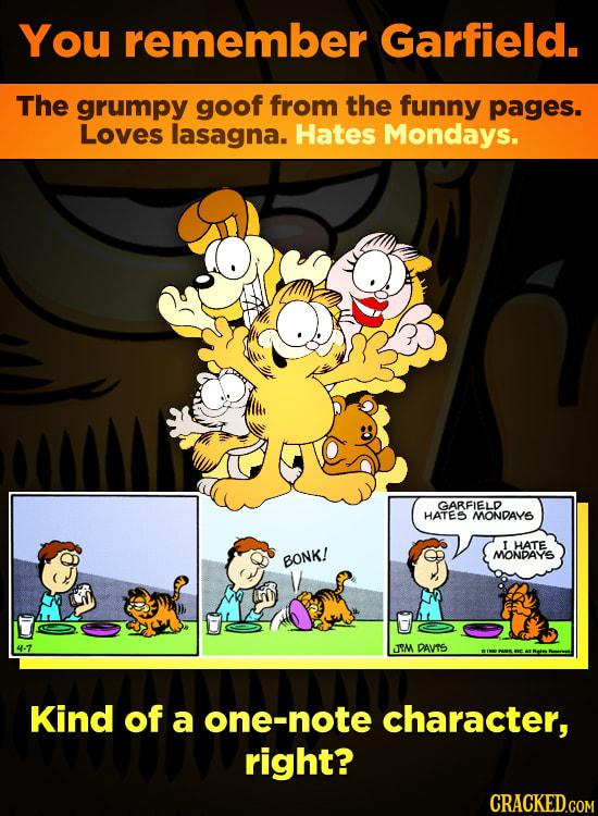 The Incredibly Dark Garfield Strip You've Never Seen