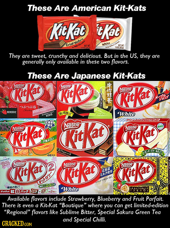 These Are American Kit-Kats Kt Kat tKat Crispwafers White NETWT 150 They are sweet, crunchy and delicious. But in the US, they are generally only avai