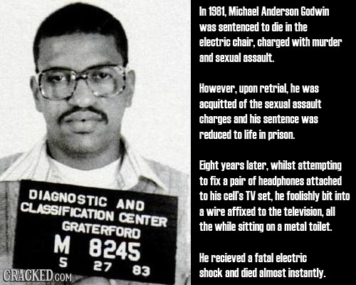 In 1981, Michael Anderson Godwin was sentenced to die in the electric chair. charged with murder and sexual assault. However, upon retrial, he was acq