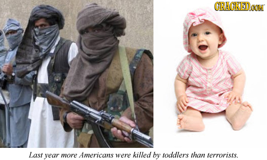 GRACKEDO Last year more Americans were killed by toddlers than terrorists.