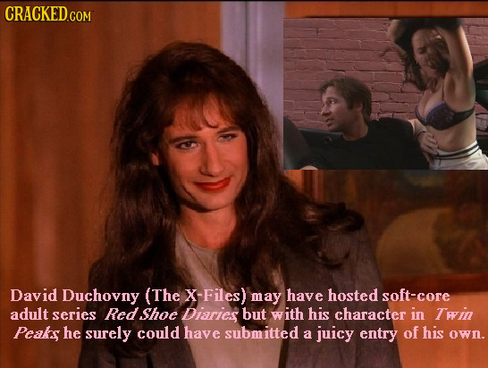 David Duchovny (The X-Files) may have hosted soft-core adult series Redshoe Diaries but with his character in Twin Peaks he surely could have submitte