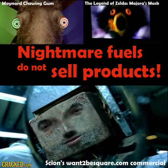Maynard Chewing Gum The Legend of Zelda: Majora's Mask Nightmare fuels do not sell products! Scion's want2besquare.com commercial