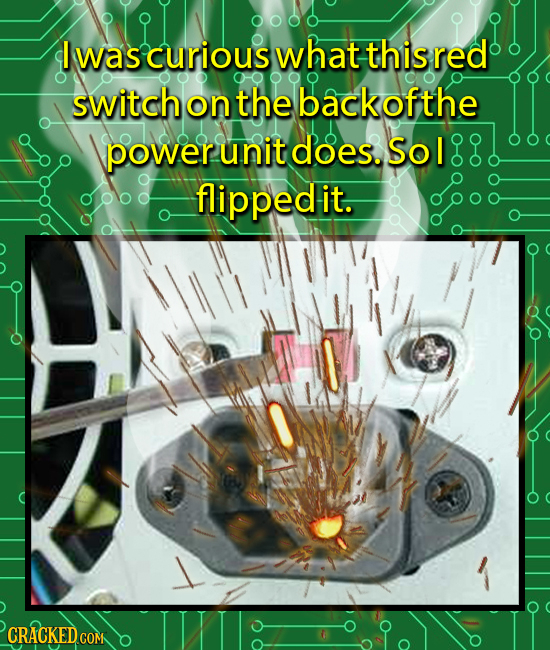 I was curious what this red switchonthe backofthe power unit does. Sol flippedlit.