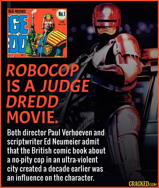 IIGS PRESENTS GE No.1 $1.00 CAN L2S DD ROBOCOP IS A JUDGE DREDD MOVIE. Both director Paul Verhoeven and scriptwriter Ed Neumeier admit that the Britis