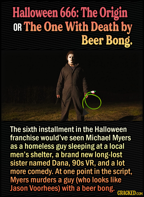 15 Bonkers Movie Sequels We Almost Got - Halloween 666: The Origin The sixth installment in the Halloween franchise would've seen Michael Myers as a h