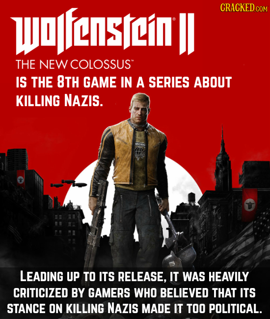 wapfenstlin ll CRACKEDc THE NEW COLOSSUS IS THE 8TH GAME IN A SERIES ABOUT KILLING NAZIS. LEADING UP TO ITS RELEASE, IT WAS HEAVILY CRITICIZED BY GAME