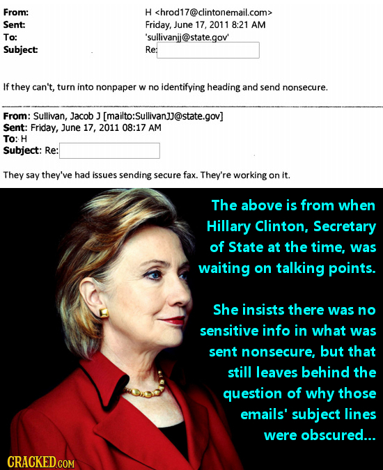 From: H <hrod17@clintonemail.com> Sent: Friday, June 17, 2011 8:21 AM To: 'sullivanjj@state.gov' Subject: Rer If they can't, turn into nonpaper W no i