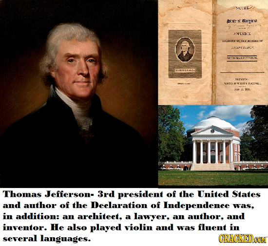 NULES ht? of irgn'u. APFENDIX 2ELTI F a-nDITO TTEESDUR TEVTON NNTD Lus Thomas Jefferson- 3rd president of the United States and author of the Deelarat