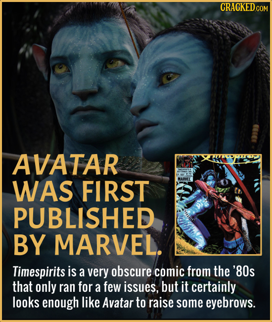 AVATAR WAS FIRST PUBLISHED BY MARVEL. Timespirits is a very obscure comic from the '80s that only ran for a few issues, but it certainly looks enough