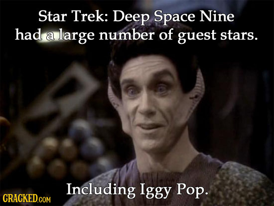 Star Trek: Deep Space Nine had a large number of guest stars. Including Iggy Pop.