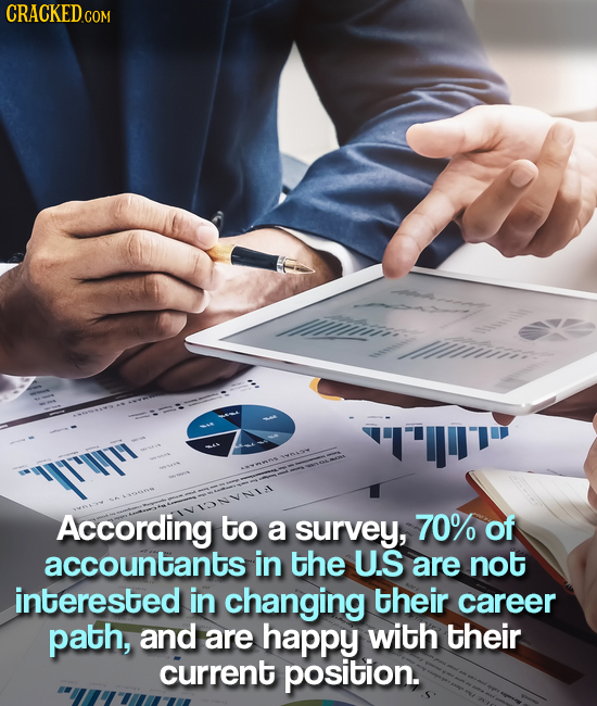 CRACKED.COM es YIT'Y According to a survey, 70% of accountants in the U.S are not interested in changing their career path, and are happy with their