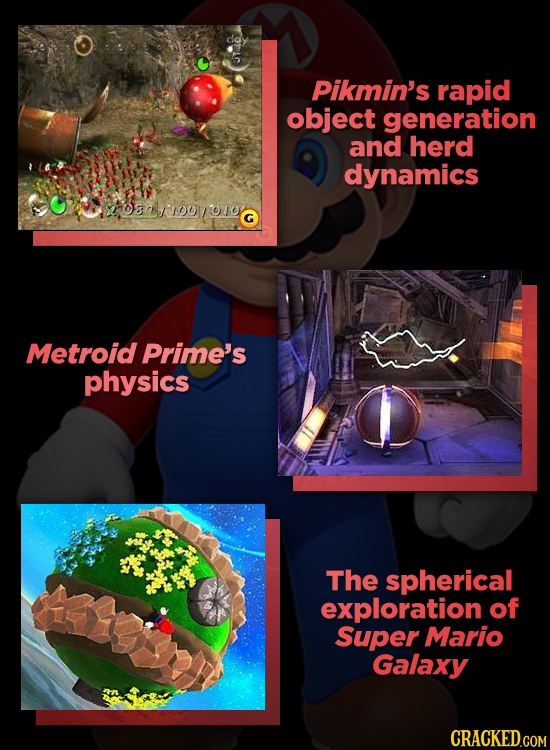 Pikmin's rapid object generation and herd dynamics 08n/'100/oto. G Metroid Prime's physics The spherical exploration of Super Mario Galaxy CRACKED.COM