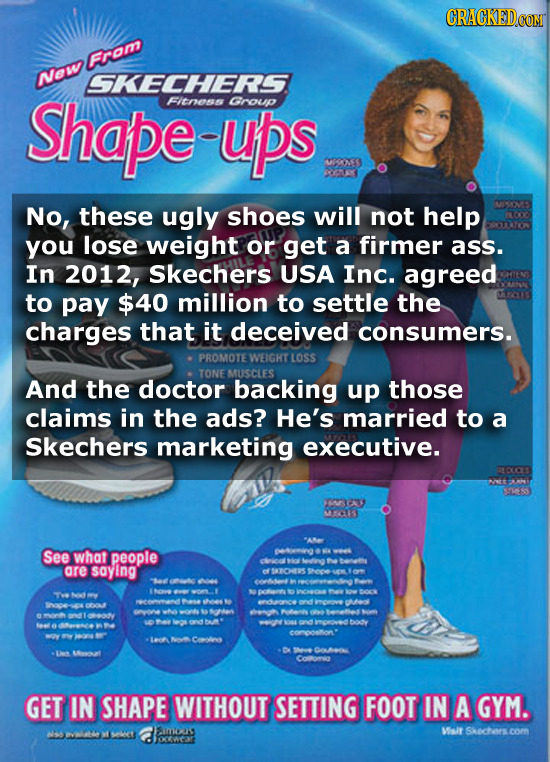 Fram New SKECHERS Shape FItess ups Gnoup OX S No, these ugly shoes will not help SSOP you lose weight or get a firmer ass. In 2012, Skechers USA Inc.
