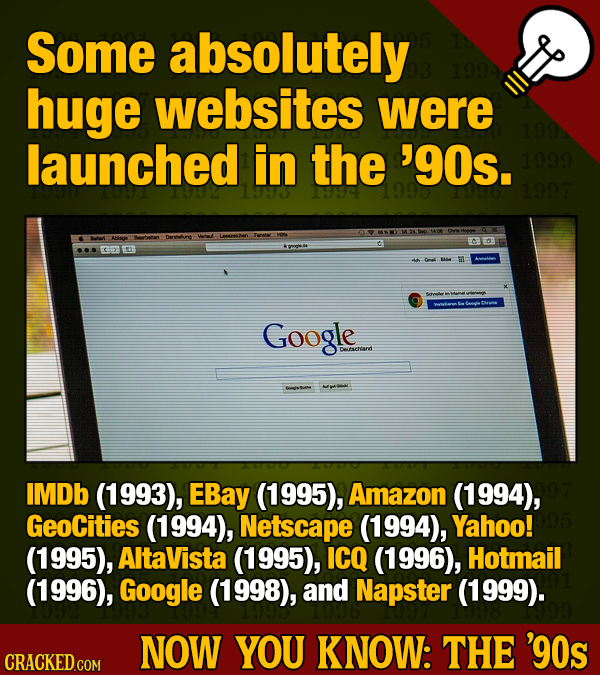 Now You Know: 22 Amazing Things That Happened In The 1990s